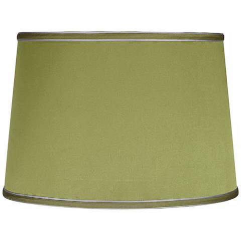Sydnee Satin Olive Green Drum Lamp Shade 14x16x11 (Spider)