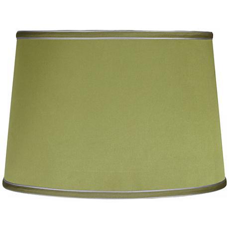 Sydnee Satin Olive Green Drum Lamp Shade 14x16x11 (Spider)