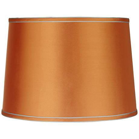 Sydnee Satin Orange Drum Lamp Shade 14x16x11 (Spider)