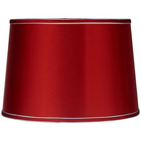 Sydnee Satin Red Drum Lamp Shade 14x16x11 (Spider)