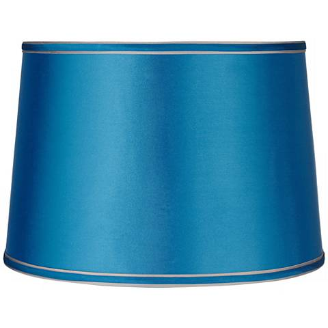 Sydnee Satin Turquoise Drum Lamp Shade 14x16x11 (Spider)