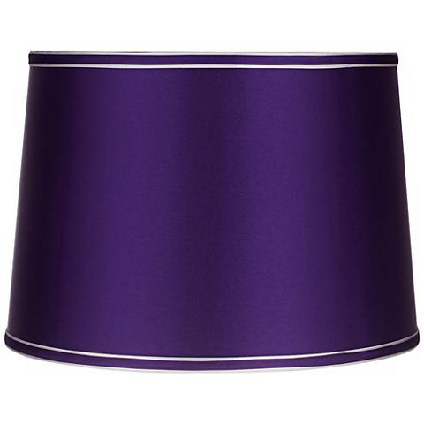 Sydnee Satin Dark Purple Drum Lamp Shade 14x16x11 Spider