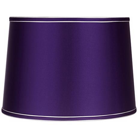 Sydnee Satin Dark Purple Drum Lamp Shade 14x16x11 (Spider)