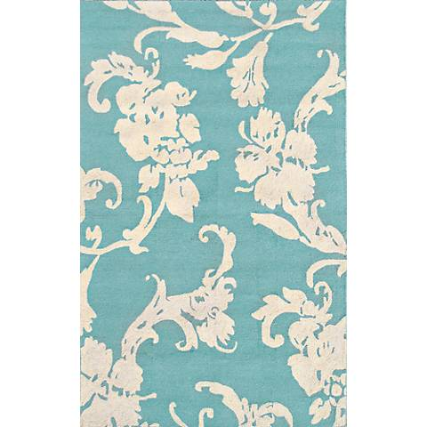 Resort Toulouse 25288 Aqua Blue Indoor-Outdoor Rug