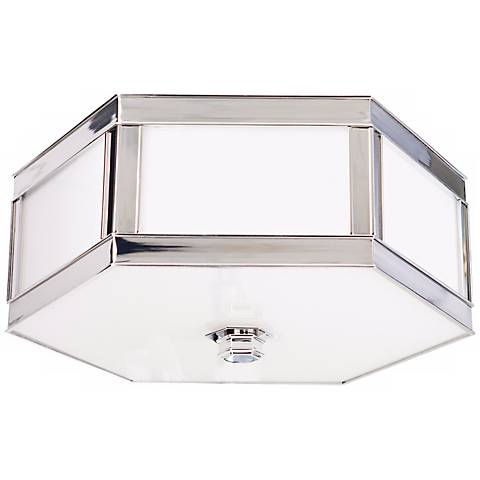 "Nassau Polished Nickel 13"" Wide Ceiling Light"