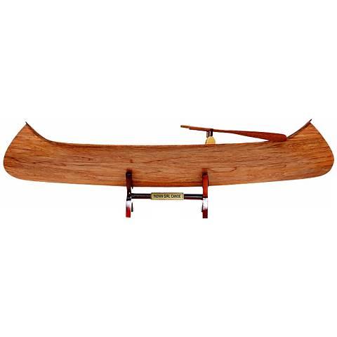Indian Girl Canoe Replica Model
