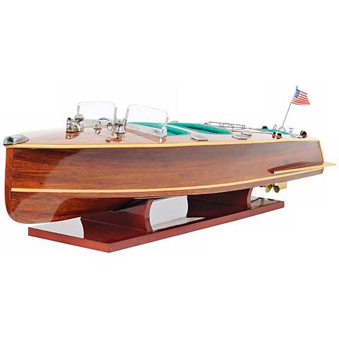 Chris Craft Triple Cockpit Mahogany Boat Model