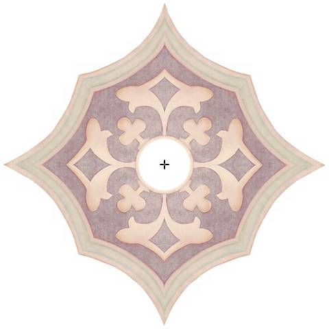 "Alzira Giclee 24"" Wide Repositionable Ceiling Medallion"