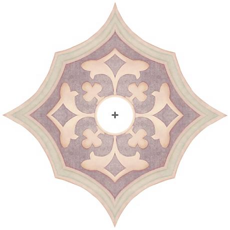 """Alzira Giclee 24"""" Wide Repositionable Ceiling Medallion"""