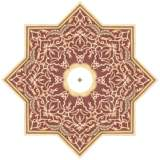 "Moroccan Scroll 24"" Wide Repositionable Ceiling Medallion"
