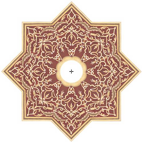 """Moroccan Scroll 24"""" Wide Repositionable Ceiling Medallion"""