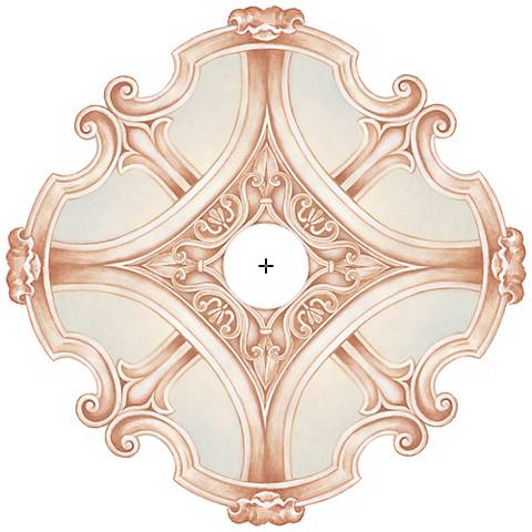 "Nouveau Giclee 24"" Wide Repositionable Ceiling Medallion"