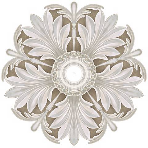 """Acanthus Round 36"""" Wide Repositionable Ceiling Medallion"""