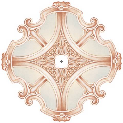 "Nouveau Giclee 36"" Wide Repositionable Ceiling Medallion"
