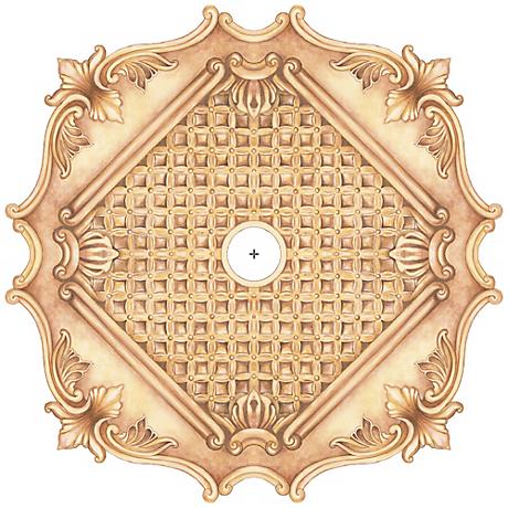 """Essex Square 36"""" Wide Repositionable Ceiling Medallion"""