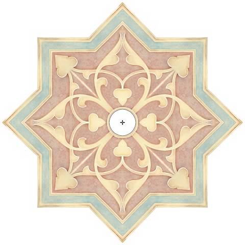 "Seville Giclee 36"" Wide Repositionable Ceiling Medallion"