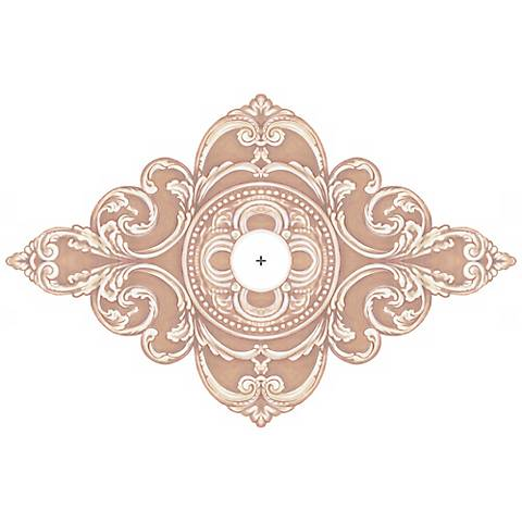 """Florentine Giclee 36"""" Wide Repositionable Ceiling Medallion"""