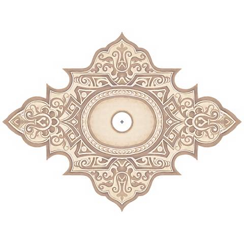 """Somerset Giclee 48"""" Wide Repositionable Ceiling Medallion"""