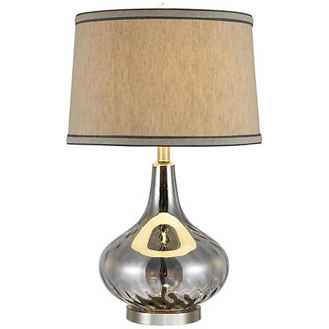 Florence Stone Pattern Gray Glass Table Lamp