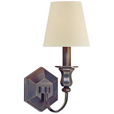 "Charlotte 14"" High Old Bronze Wall Sconce"