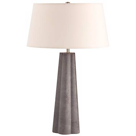 Arteriors Home Lawton Shagreen Leather Table Lamp