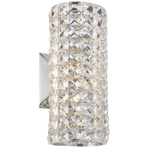 Lamps Plus Crystal Wall Sconce : Crystal Cylinder 10 1/4