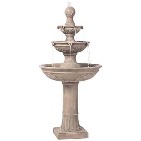 "Stafford Three Tier 48"" High Indoor - Outdoor Fountain"