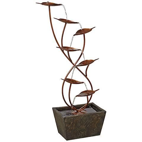 "Ashton Curved Leaves 41"" High Copper Finish Floor Fountain"