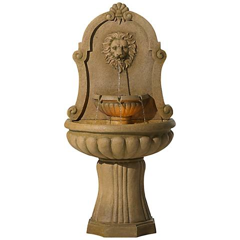"Savanna Lion 58"" High Indoor - Outdoor Floor Fountain"