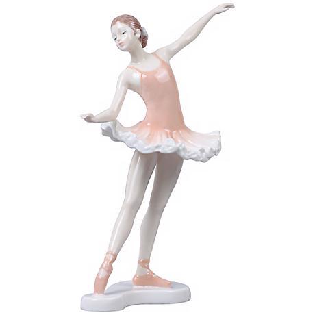 """Croise Derriere Pink Porcelain 10"""" High Ballerina Figurine"""