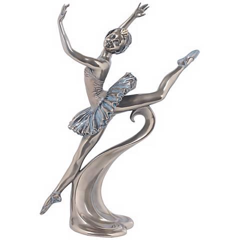 """Grand Jete Bronze 10 3/4"""" High Ballerina Figurine"""