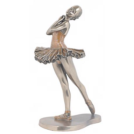 """Croise Derriere Bronze 9 3/4"""" High Ballerina Figurine"""