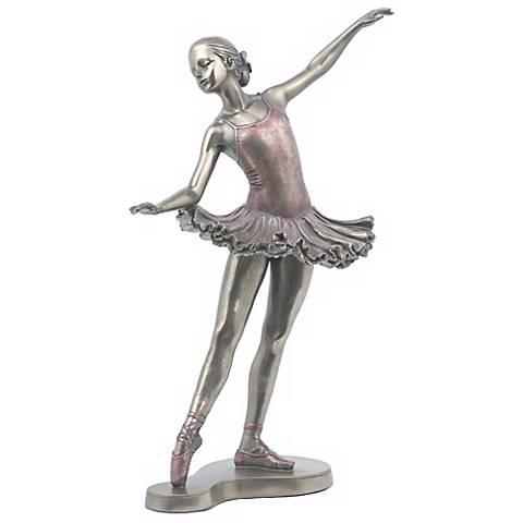 "Balances En Arriere Bronze 10 3/4"" high Ballerina Figurine"