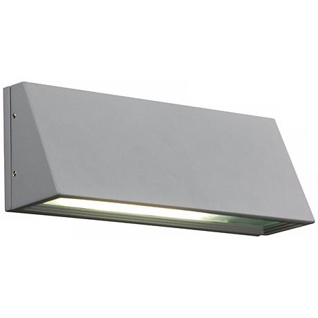 "Origo 11"" Wide Silver Outdoor Wall Light"