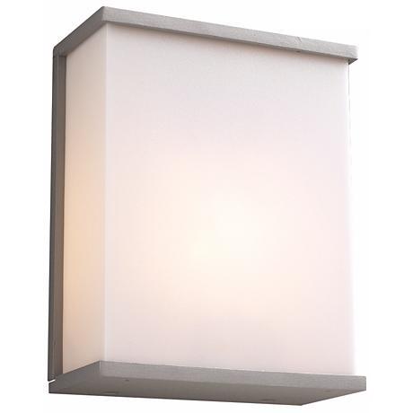"Pinero 10"" High Silver Outdoor Wall Light"