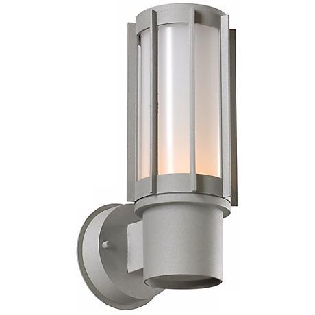 """Nauta 12"""" High Silver Outdoor Wall Light"""