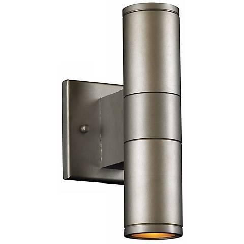 """Troll-II 10"""" High Bronze Outdoor Wall Light"""