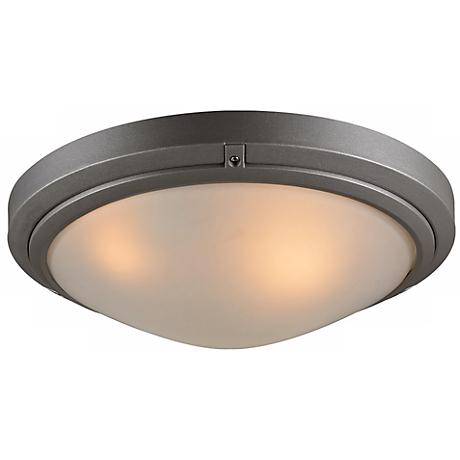 """Ricci II Collection 16"""" Wide Bronze Outdoor Ceiling Light"""