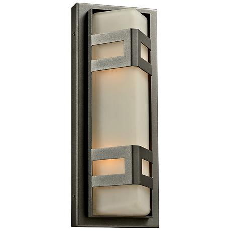 "Sasha 16 1/4"" High Bronze Outdoor Wall Light"