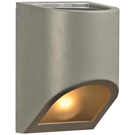 """Perry 8"""" High Top and Silver Bronze Outdoor Wall Light"""