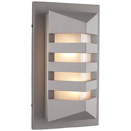 """De Majo 15 3/4"""" High Silver Outdoor Wall Light"""