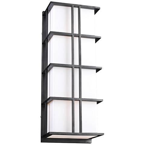 """Sasha Silver 16 1/4"""" High Glass Outdoor Wall Light"""