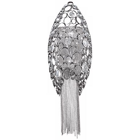"""Cameo Collection 21"""" High Polished Nickel Wall Sconce"""