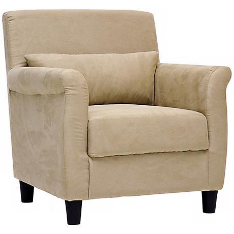 Banyon Tan Microfiber Accent Chair