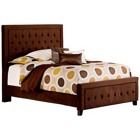 Hillsdale Kaylie Upholstered Chocolate Bed Set
