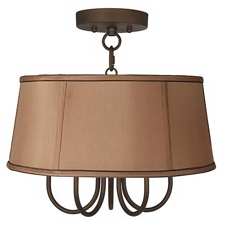 """Wynwood 16"""" Wide Ceiling Light with Biscuit Brown Shade"""