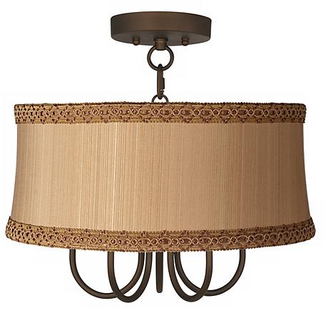 """Wynwood 17"""" Wide Ceiling Light with Zurich Taupe Shade"""