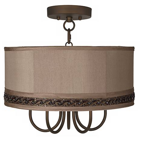 """Wynwood 16"""" Wide Ceiling Light with Morell Silver Shade"""
