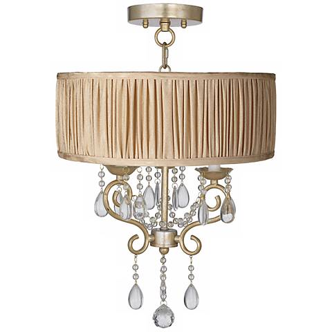 "Conti 16"" Wide Ceiling Light with Carlton Pleat Shade"