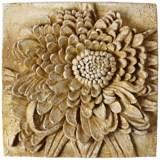 "Chrysanthemum 13 1/2"" Square Pompeii Outdoor Wall Plaque"